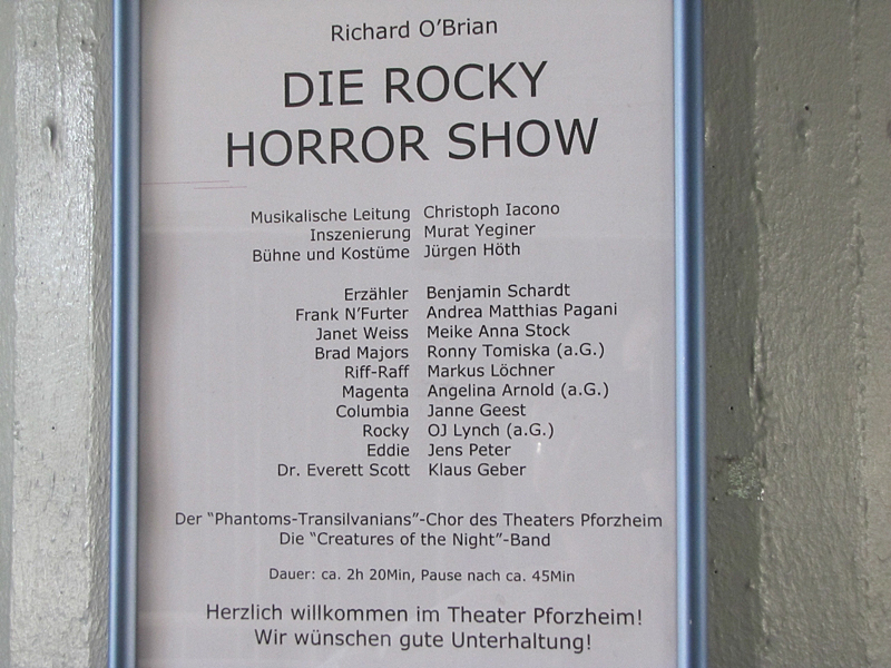 red chilly bei der Rocky Horror Show