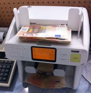 Zählmaschine für Geldscheine