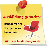 Ausbildung bei der Sparkasse Pforzheim Calw
