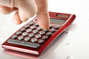 roter Taschenrechner