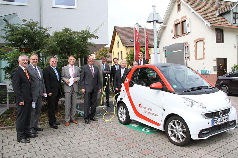 Einweihung E-Ladestation in Wilferdingen