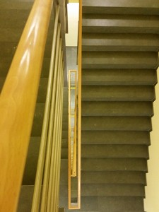 Sicht vom 10. Stock Treppenhaus runter